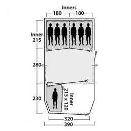 Outwell Woodburg 7A Air Tent Floorplan
