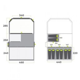 Zempire Aero TXL Pro Air Tent Floorplan
