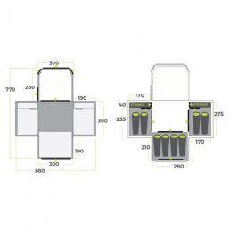 Zempire Aerodome III Pro Air Tent Floorplan